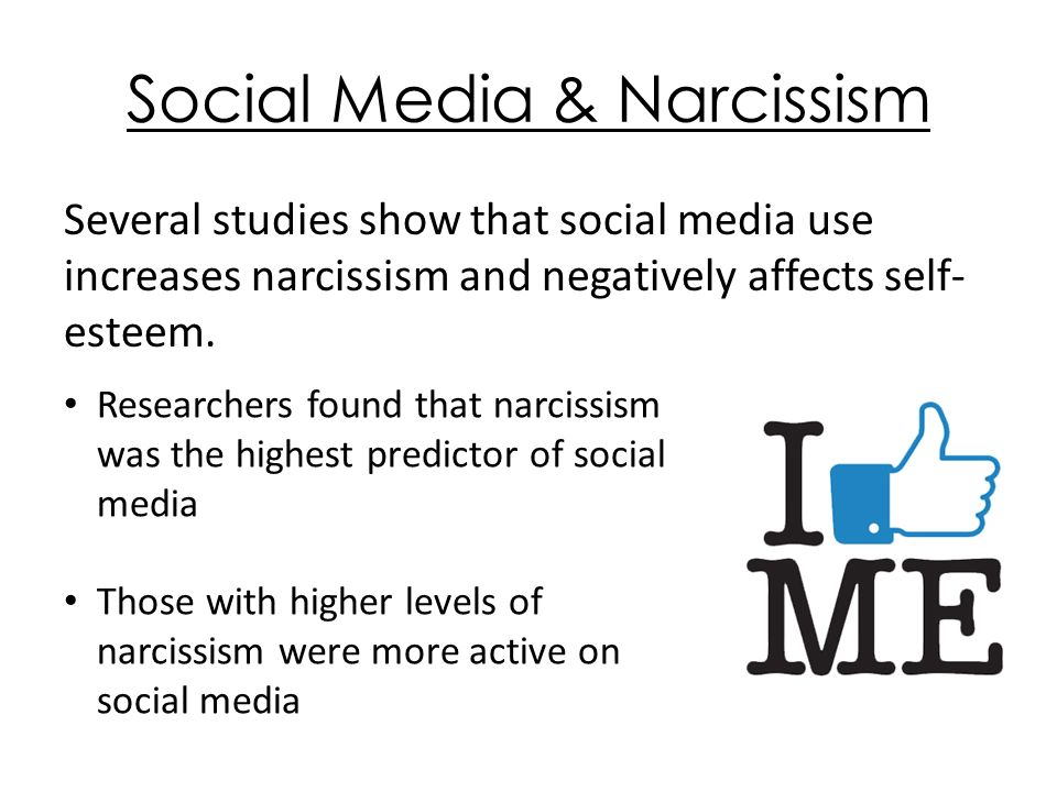 The Effect of Social Media Use on Narcissistic Behavior By Mariel