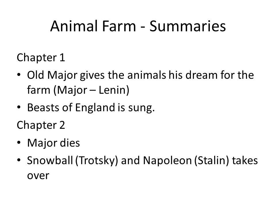 animal farm chapter 1