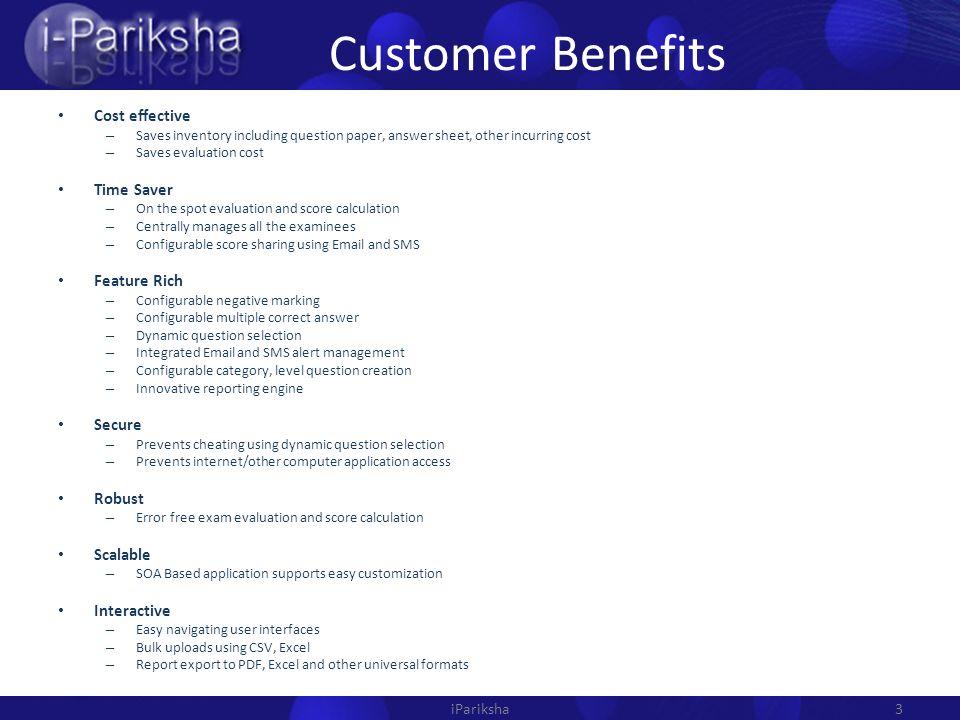 IPariksha Automating Examination System  Brief iPariksha is a