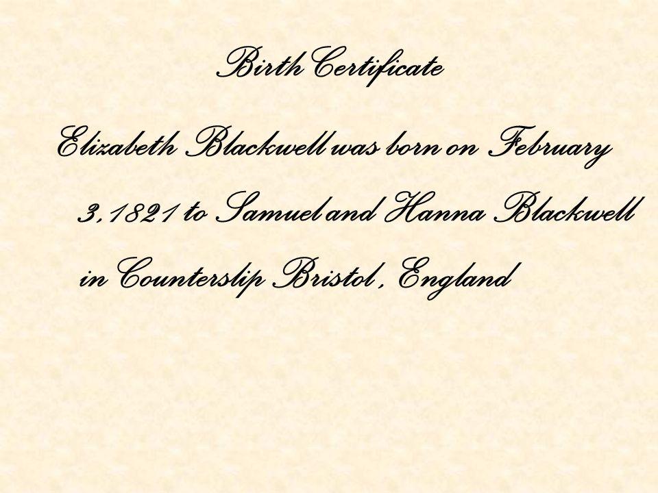 Elizabeth Blackwell Kennedy Smales Introduction Elizabeth Blackwell