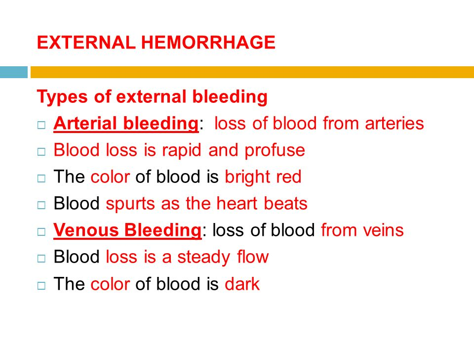 Emergency Health Care Lecture 6 Hemorrhage Definition Hemorrhage