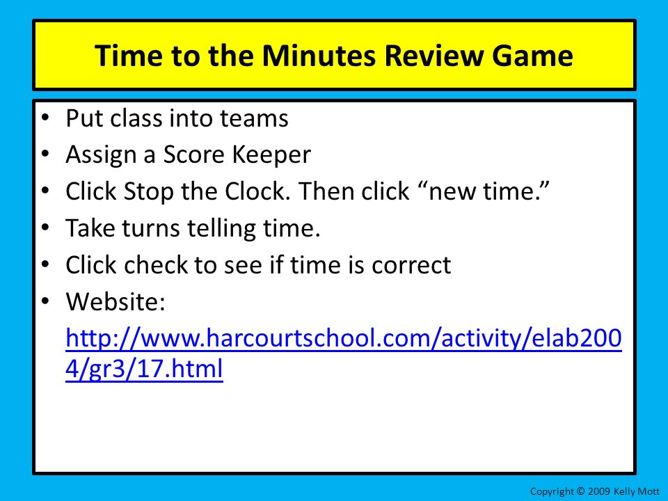 Unit 1 Lesson 12: Time to the Nearest Minute Copyright