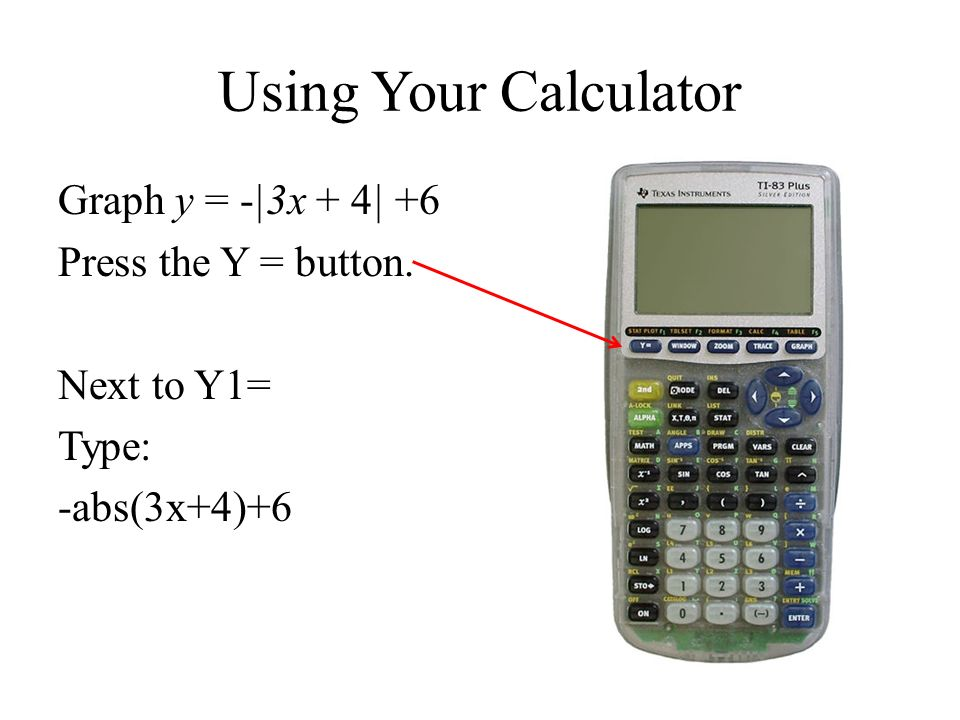 section 2-5: absolute value functions and graphs objective: to graph