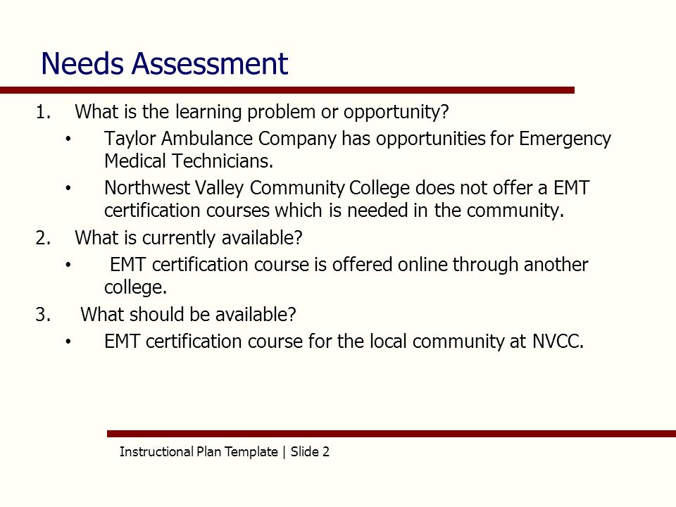 Instructional plan template slide 1 aet515 instructional plan instructional plan template slide 2 needs assessment 1what is the learning problem or yelopaper Images