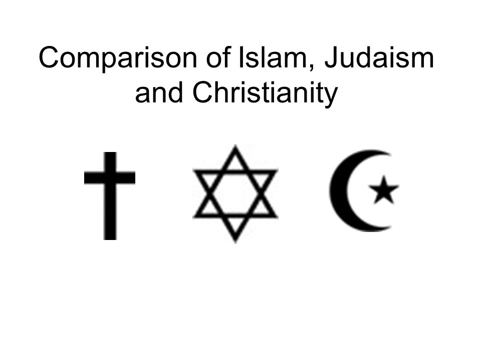 Comparison Of Islam Judaism And Christianity Comparison Of