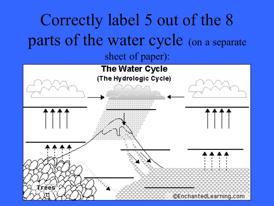 Water cycle climateclouds weather systems wonderful ppt download 10 correctly label 5 out of the 8 parts of the water cycle on a separate sheet of paper ccuart Gallery