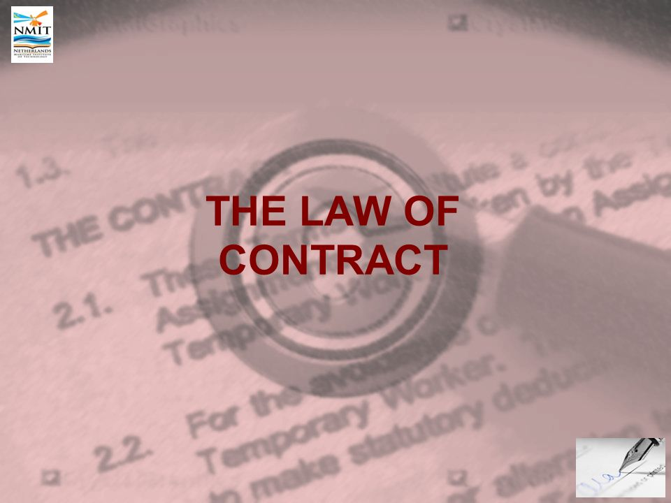 The Law Of Contract Introduction Definition Of Contract An