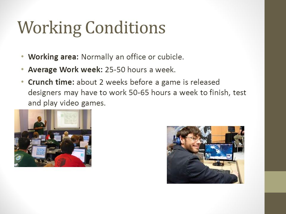 My Career Research Evan Bartusch Date Hour Class St Century - Video game designer working conditions