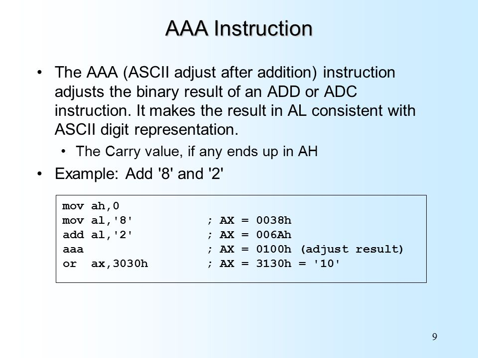 Chapter 7 Integer Arithmetic Assembly Language For Intel Based