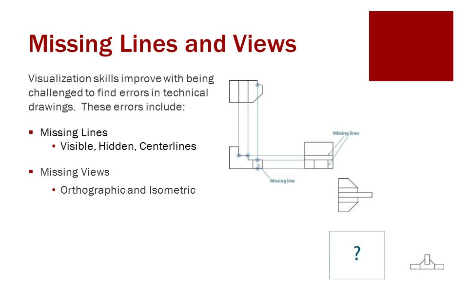 Missing Lines and Views ENGR 1182 Graphics 05  Today's