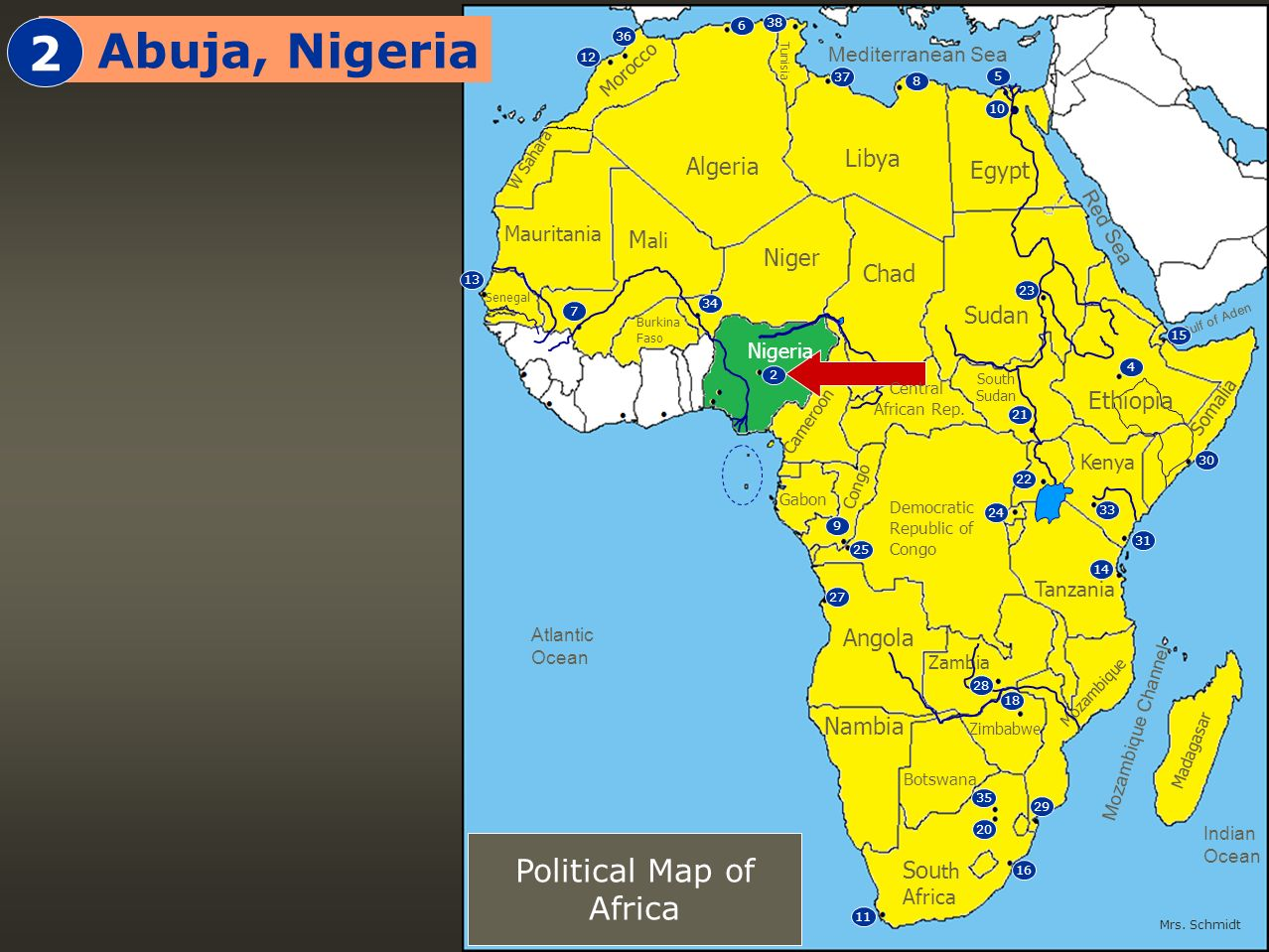 Political Map Of Western Africa Geography Unit Ppt Download