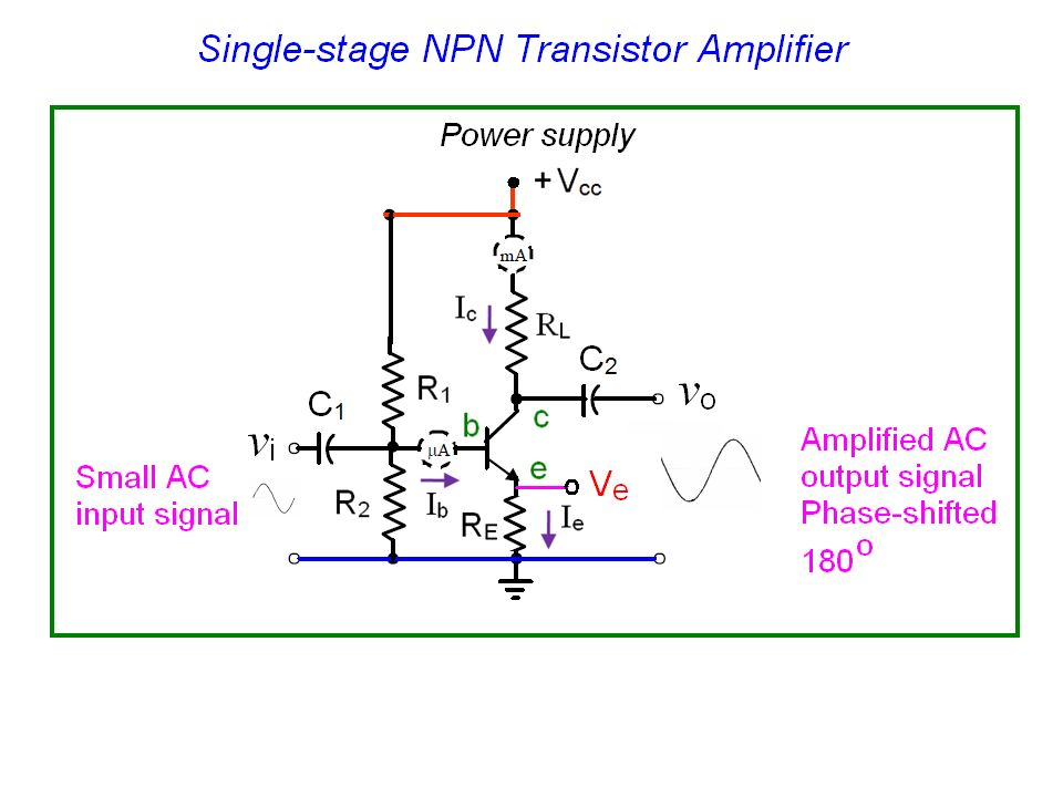 2) this will mean that the transistor will try to increase its current  level, i c  3) hence lift the voltage