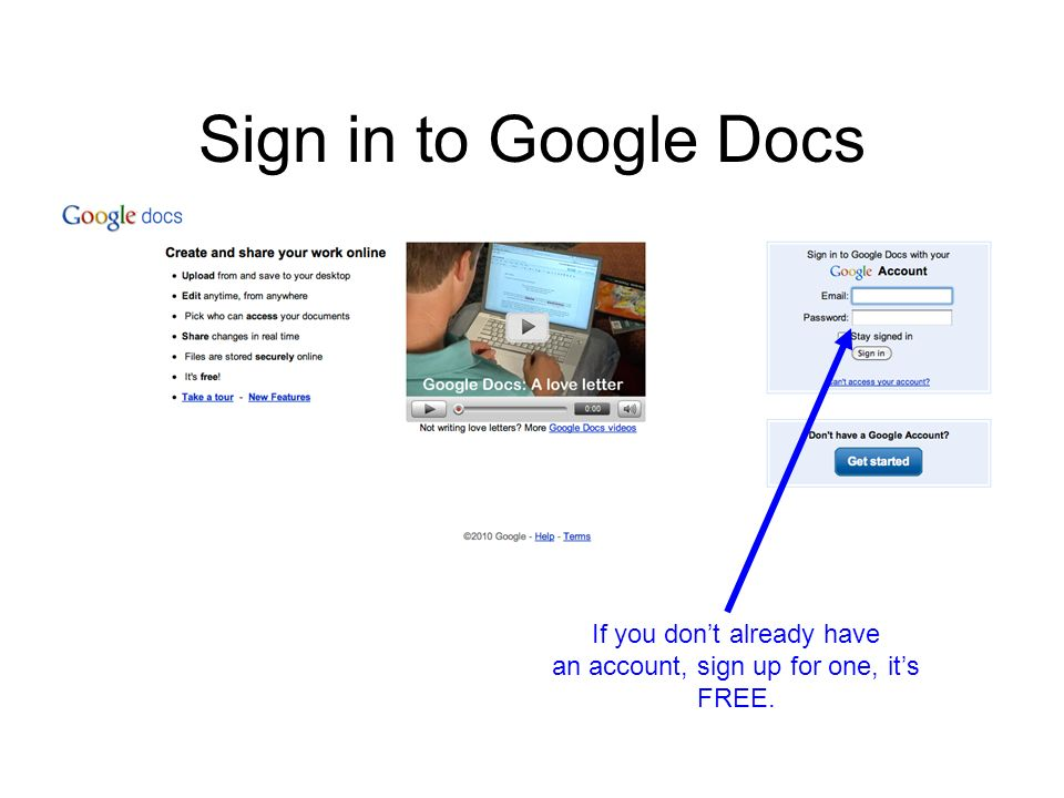 Creating A Google Doc A Quick Photo Tutorial Sign In To Google Docs - Google docs sign up