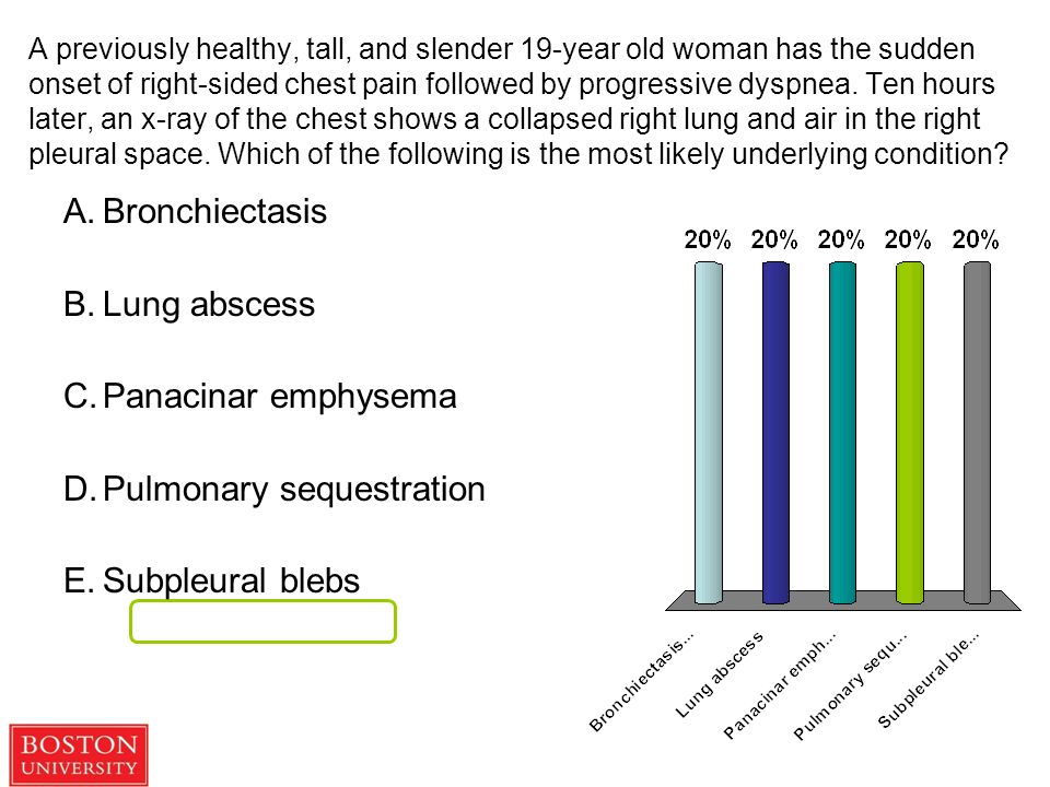 Department of Pathology A previously healthy, tall, and slender 19-year old  woman