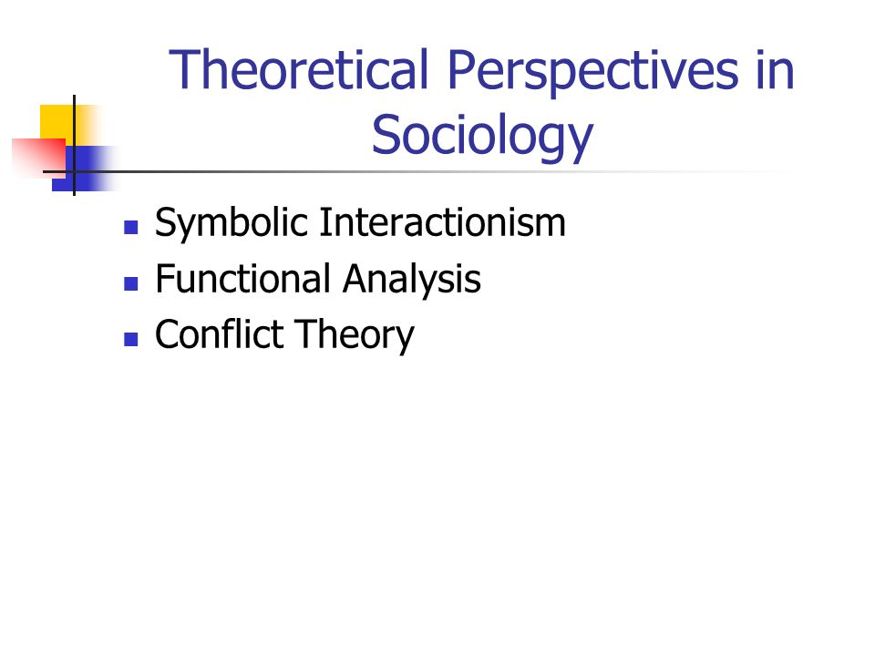 Theoretical Perspectives In Sociology Symbolic Interactionism