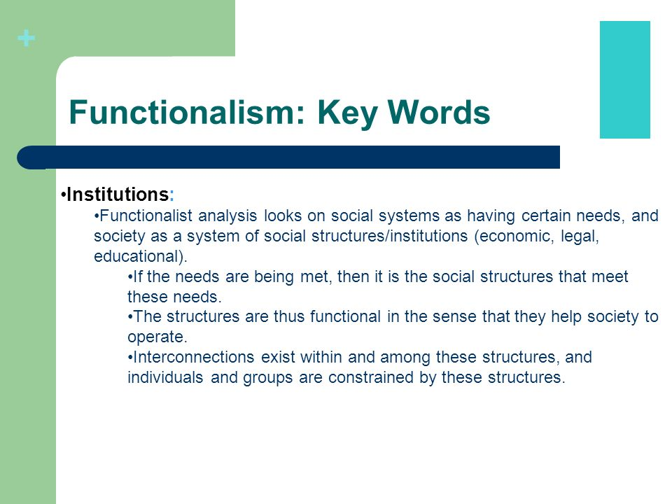 Functional Analysis Sociology 3 Major Theoretical Perspectives In