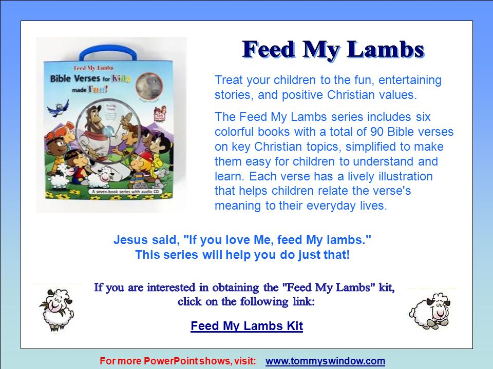 """51c25667d2d90 From """"Feed My Lambs"""" booklets Aurora Production AG Switzerland. All ..."""