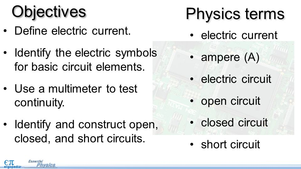 Intro To Electricity And Circuits Pg 45 Objectives Define Electric