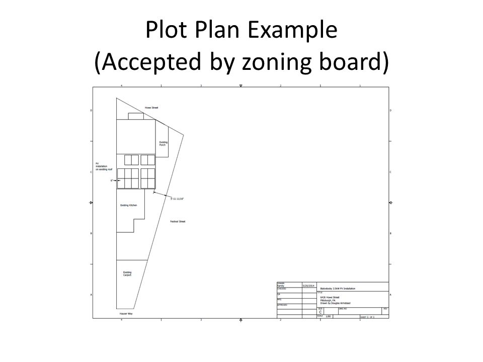 Regulatory overview for pv systems plot plan example accepted by 3 plot plan example accepted by zoning board maxwellsz