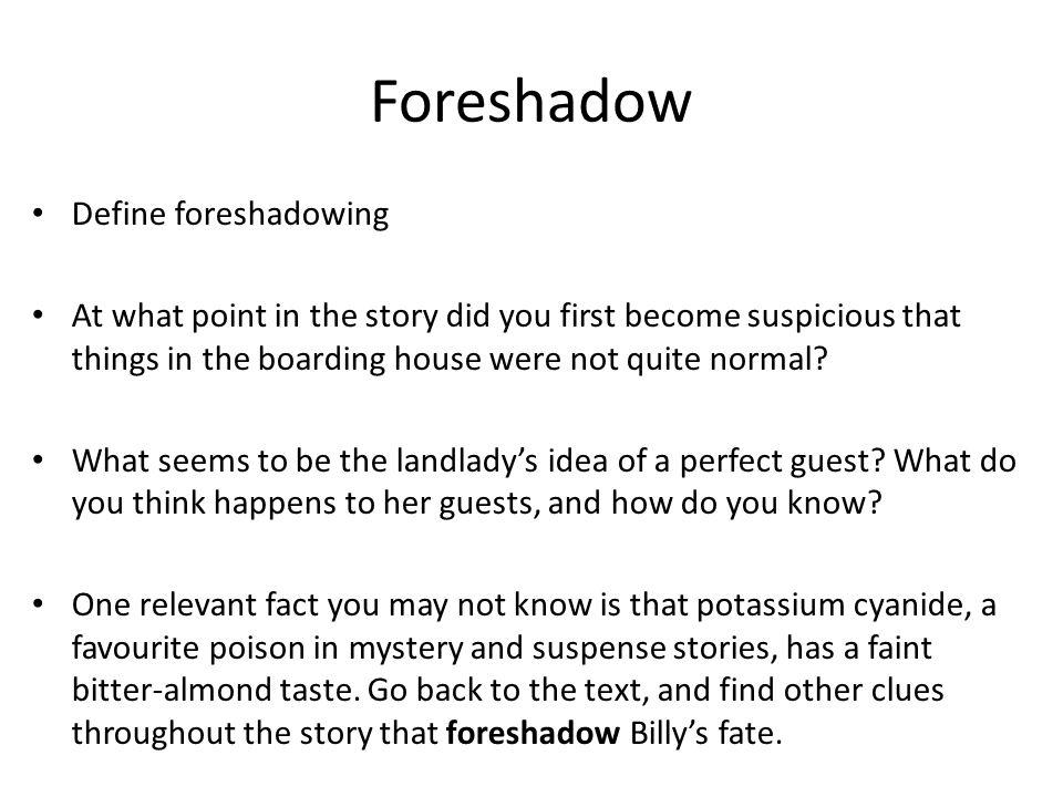 the landlady foreshadowing essay