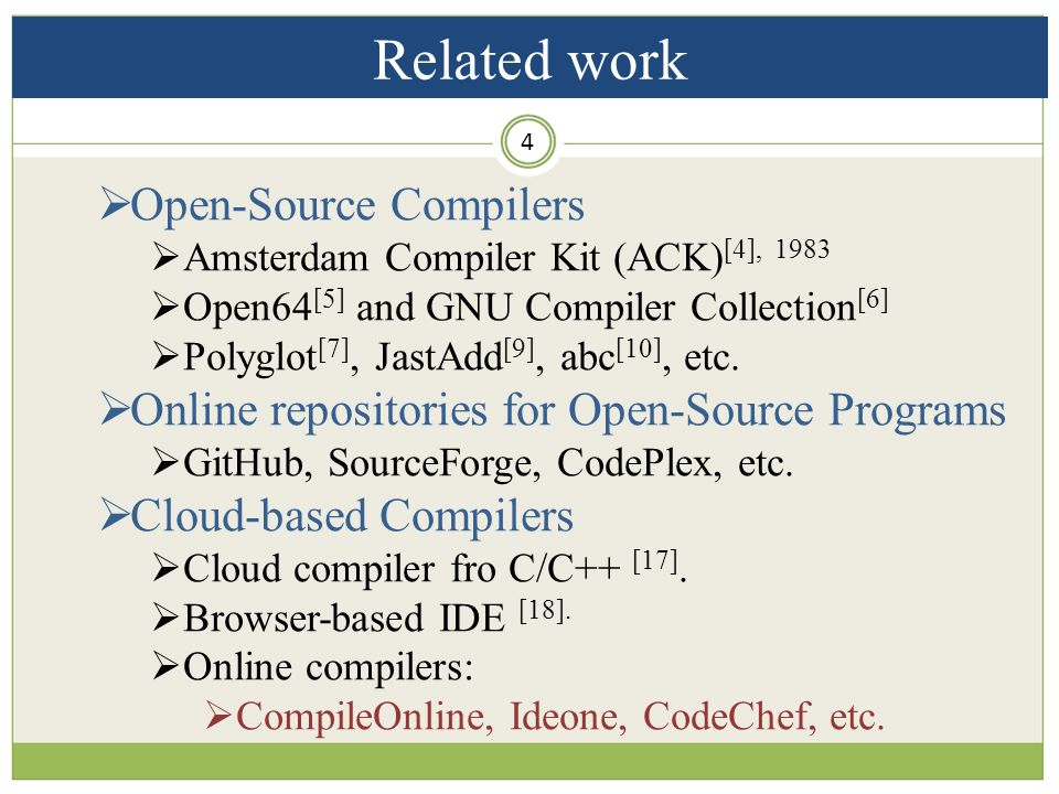 Toward Open-source Compilers in a Cloud-based Environment: The Need