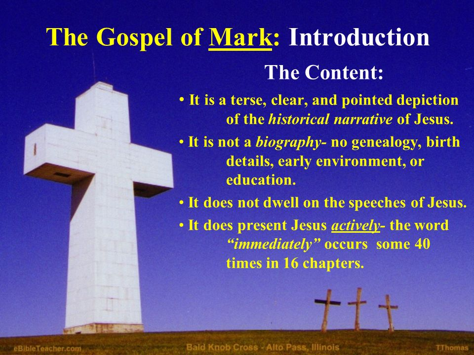 mark in the bible biography