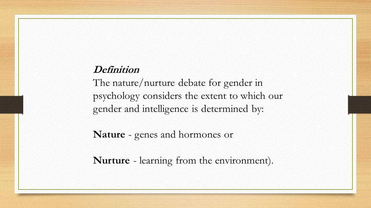 nature or nurture psychology