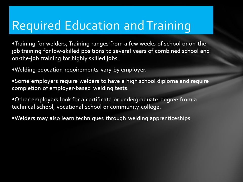 Career Fact Sheet Welding Introduction Training For Welders