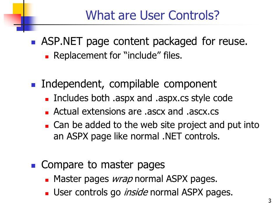 Ascx tutorial c#.