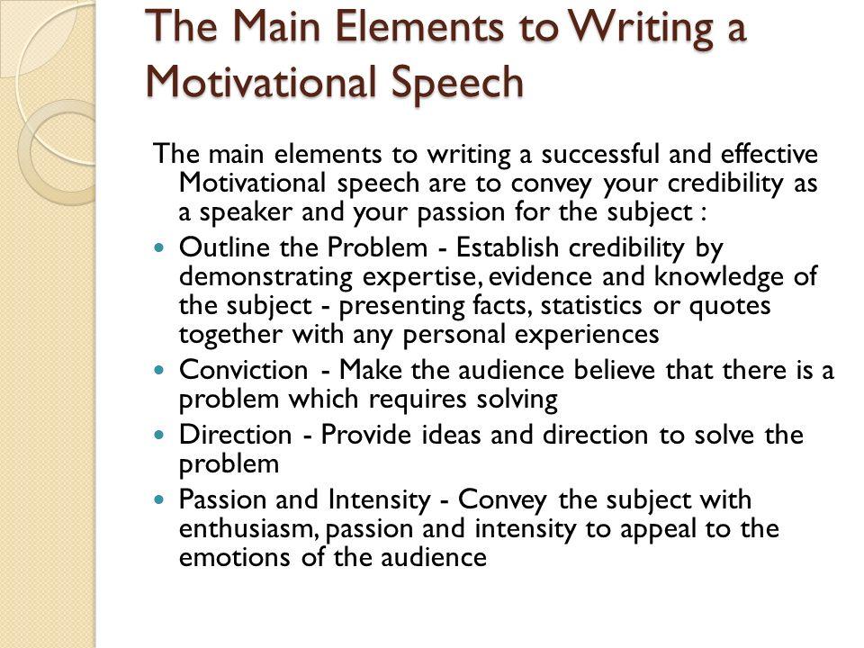 how to write a motivational speech