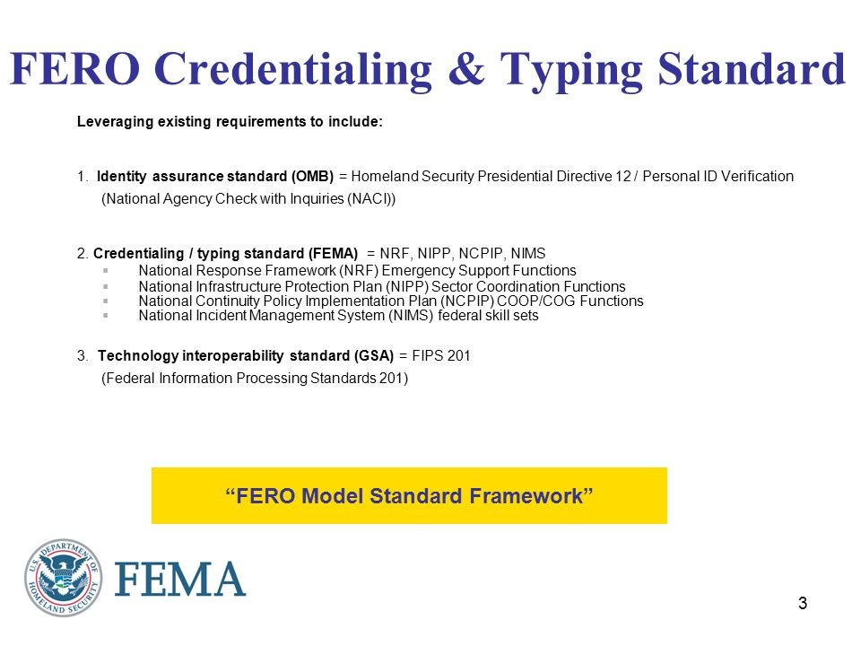 Federal Preparedness Credentialing Typing Hr 1 Requirement