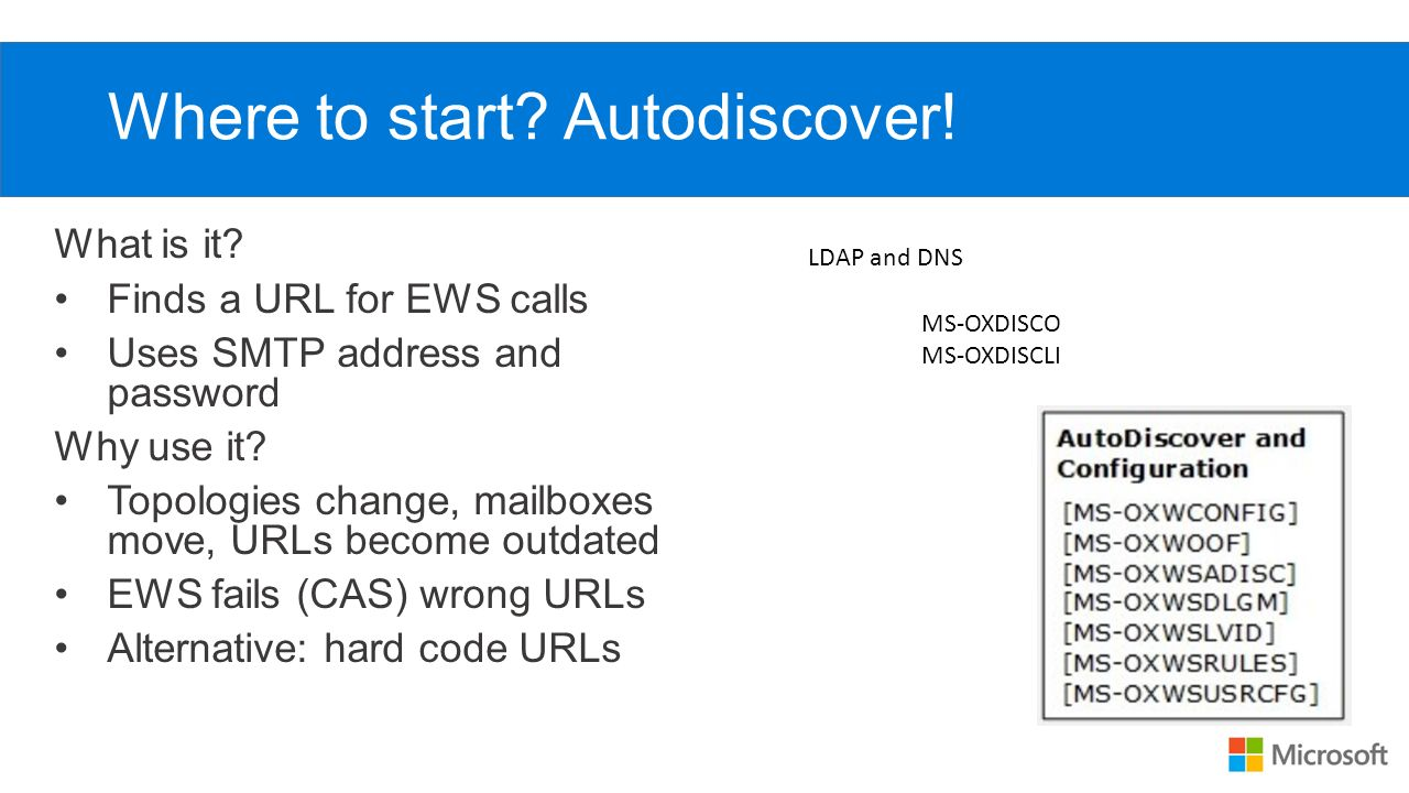 EWS Overview Tom Jebo Microsoft Open Specifications  - ppt download
