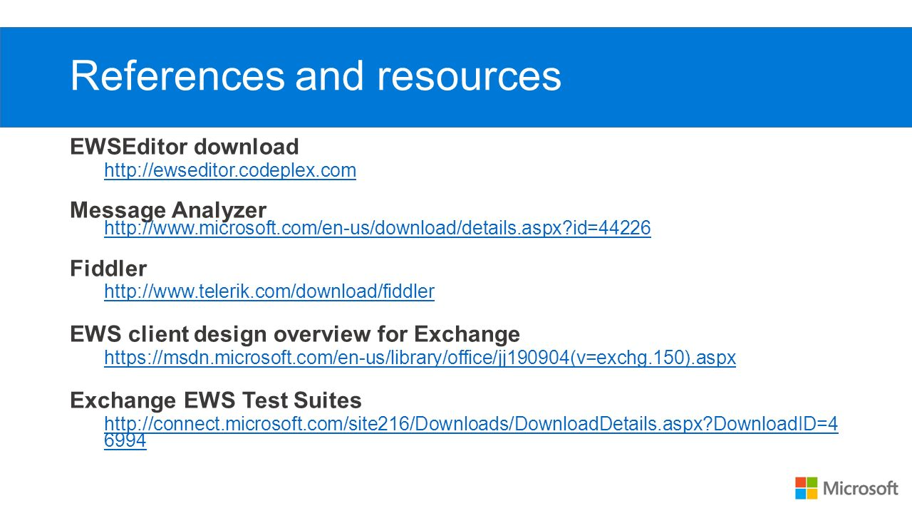 EWS Overview Tom Jebo Microsoft Open Specifications  - ppt