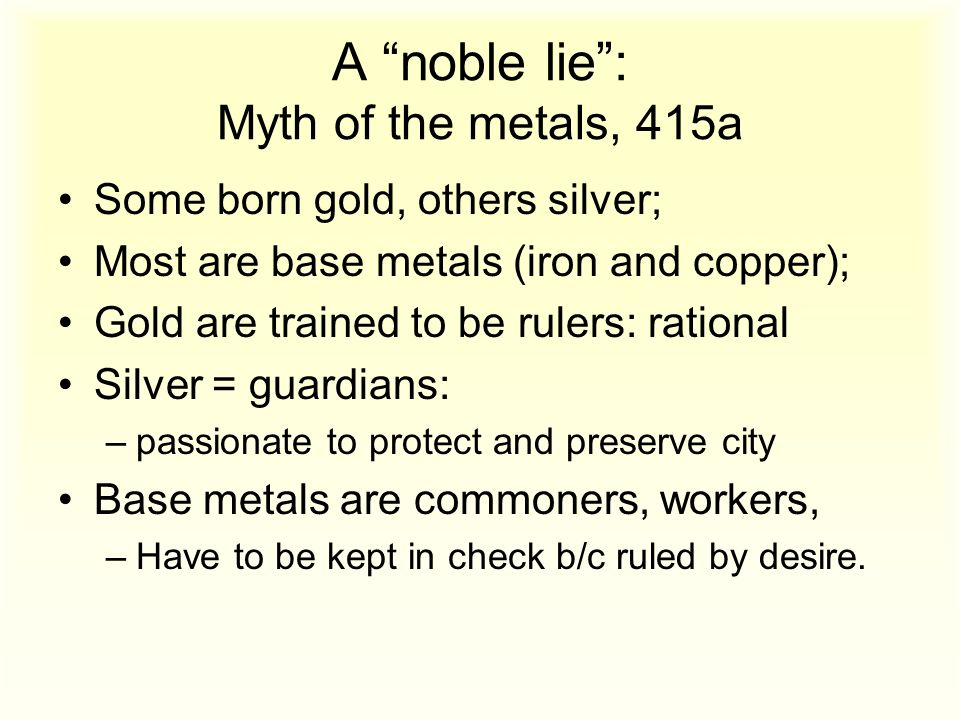 myth of the metals