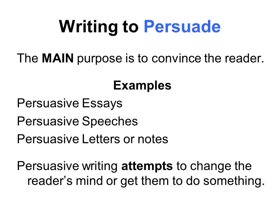 Three purposes of an essay