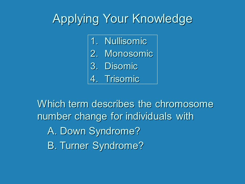 Changes In Chromosome Number Chromosome Number Mutations Type Of