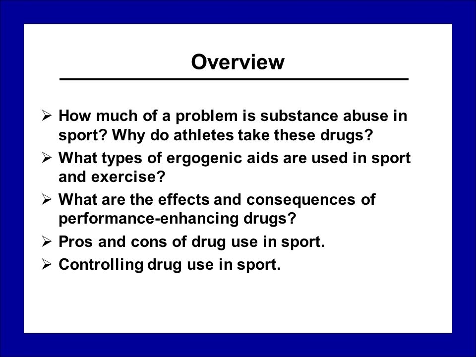 pros and cons of performance enhancing drugs in sports