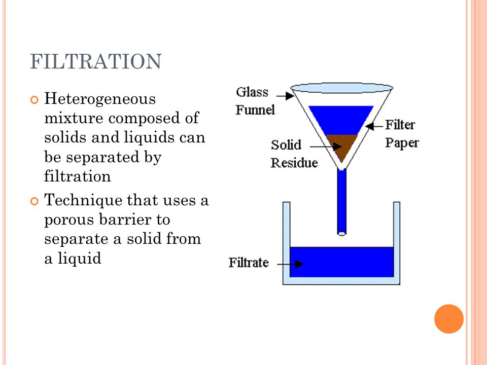 separation heterogeneous mixture Different methods of separation of mixtures learn about different separation  throughout the mixture and heterogeneous mixture is a type of mixture.