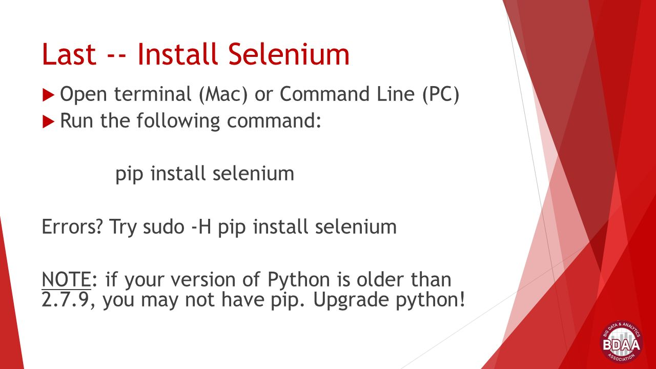 pip install selenium version