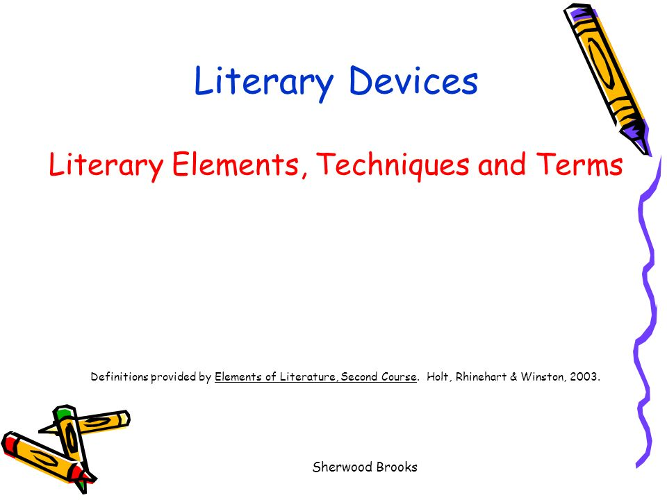 Literary Devices Literary Elements Techniques And Terms Definitions