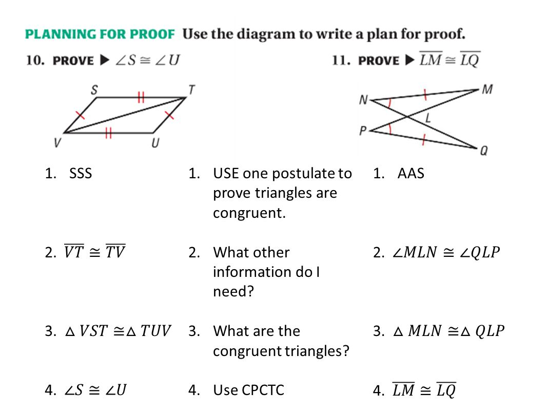 Geometry 4 6 Worksheet Proving Triangles Congruent With Hl Kidz