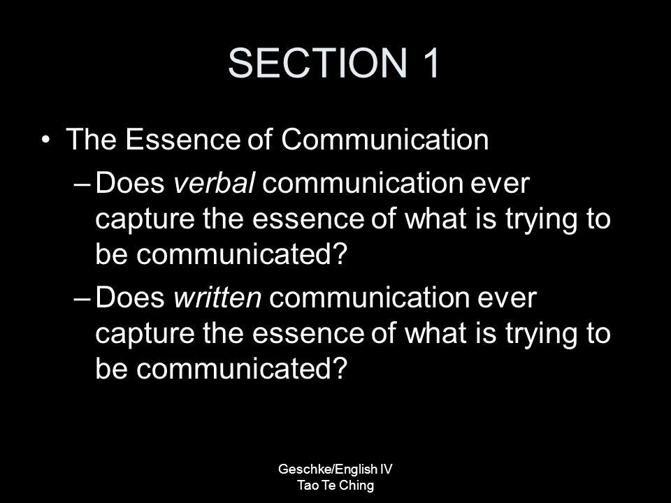 whats the essence of communication