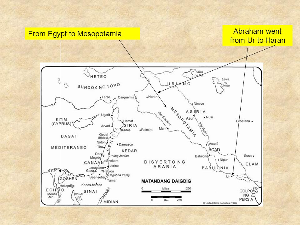 Abraham went from Ur to Haran From Egypt to Mesopotamia