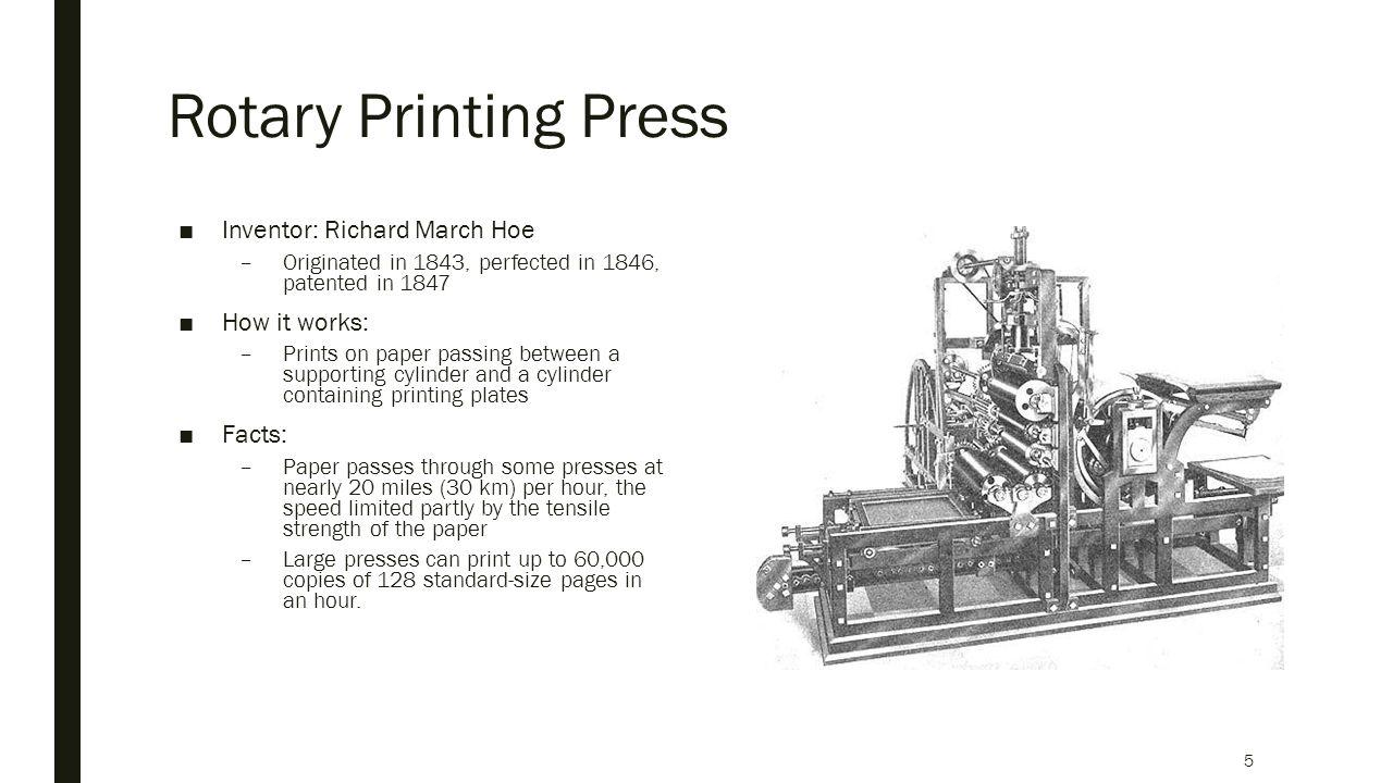 The History Of Printing Kyle Taveira Cara Vedral Angie Wang Press Diagram Year 1 And 2 Context Rotary 5