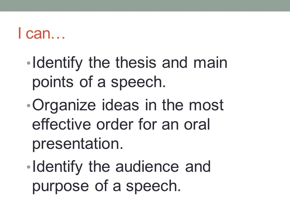 thesis for speech
