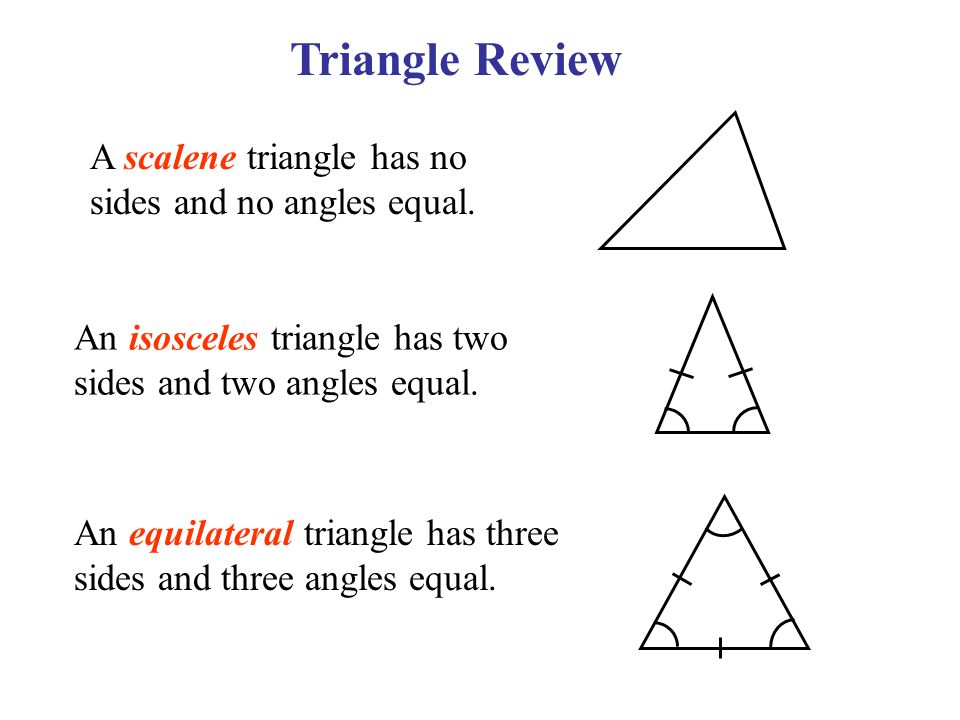 Triangle Review A Scalene Has No Sides And Angles Equal. Worksheet. Isosceles And Equilateral Triangles Worksheet At Mspartners.co