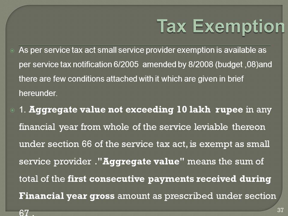 small service provider under service tax