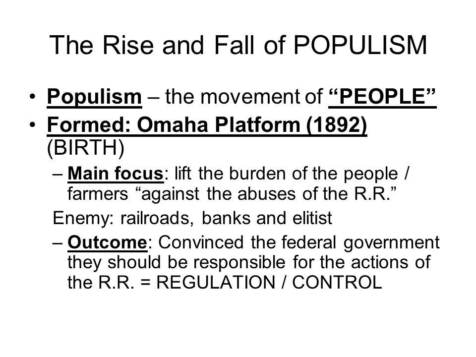 populist omaha platform