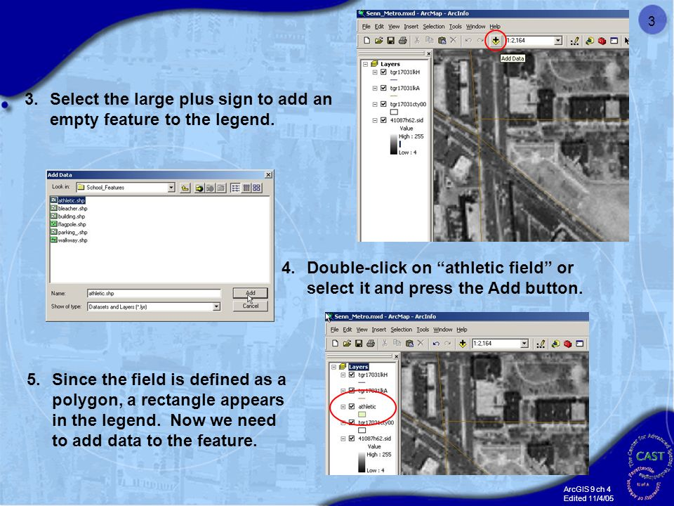 ArcGIS 9 ch 4 Edited 11/4/05 1 Creating and Editing Data in