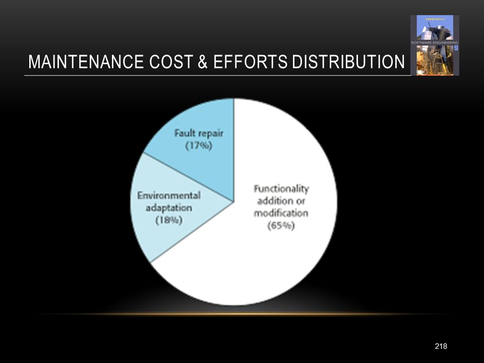MAINTENANCE COST & EFFORTS DISTRIBUTION 218